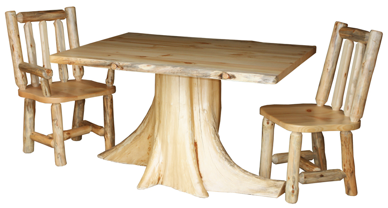 Dining Set with Stump Table